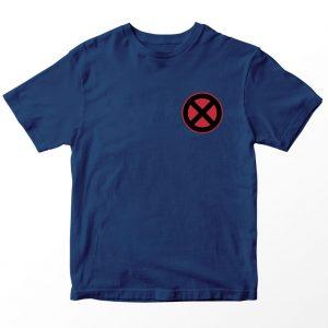 Kaos DC Superhero Cyclops Logo, Warna Biru Navy Pocket Umur 1-10 Tahun by DistroJakarta.com