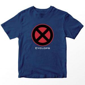 Kaos DC Superhero Cyclops, Warna Biru Navy Umur 1-10 Tahun by DistroJakarta.com