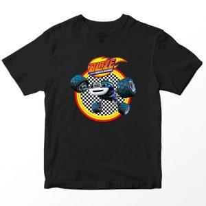 Kaos Blaze and Monster Machines Darington Logo, Hitam 1-10 Tahun by DistroJakarta.com
