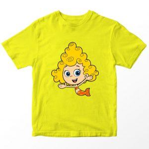 Kaos Bubble Guppies Dina Kartun, Warna Kuning Umur 1-10 Tahun by DistroJakarta.com