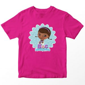 Kaos Doc McStuffin Dottie 2, Warna Pink Fushia Umur 1-10 Tahun by DistroJakarta.com