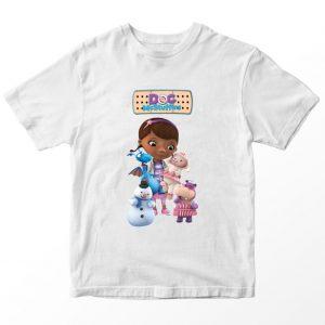 Kaos Doc McStuffin Friends 2, Warna Putih Umur 1-10 Tahun by DistroJakarta.com