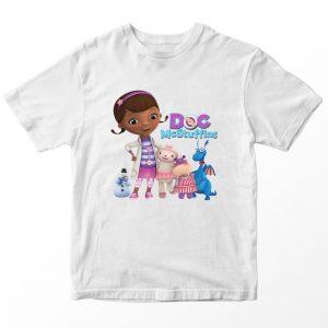 Kaos Doc McStuffin Friends, Warna Putih Umur 1-10 Tahun by DistroJakarta.com