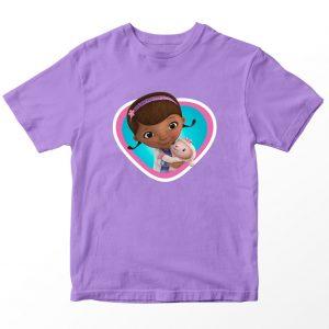Kaos Doc McStuffin Doc Head, Warna Lilac Ungu Umur 1-10 Tahun by DistroJakarta.com