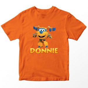 Kaos Super Wings Donnie, Oranye Umur 1-10 Tahun by DistroJakarta.com