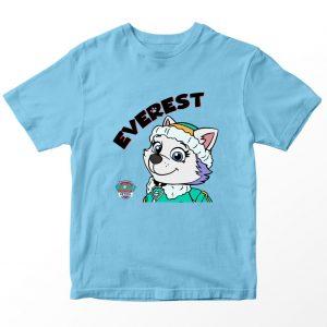 Kaos Paw Patrol Everest 2, Warna Biru Muda Umur 1-10 Tahun by DistroJakarta.com