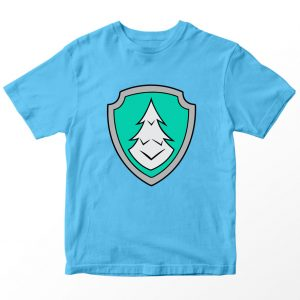 Kaos Paw Patrol Everest Badge Logo, Warna Biru Muda Umur 1-10 Tahun by DistroJakarta.com