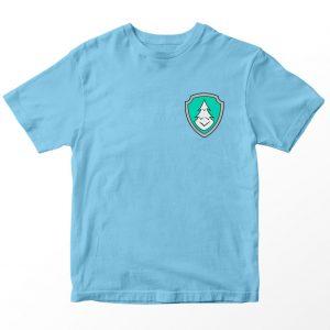 Kaos Paw Patrol Everest Lencana, Warna Biru Muda Pocket Logo 1-10 Tahun by DistroJakarta.com