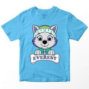 Kaos Paw Patrol Everest Bone, Warna Biru Muda Umur 1-10 Tahun by DistroJakarta.com