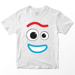 Kaos Toy Story Forky Garpu, Warna Putih Umur 1-10 Tahun by DistroJakarta.com