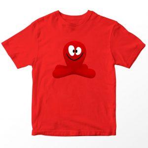 Kaos Pocoyo Fred Octopus, Warna Merah Umur 1-10 Tahun by DistroJakarta.com