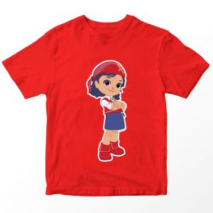 Kaos Rainbow Ruby Gina, Warna Merah Umur 1-10 Tahun by DistroJakarta.com