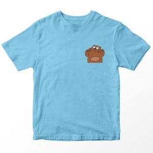 Kaos We Bare Bears Grizzly, Warna Coklat Umur 1-10 Tahun by DistroJakarta.com