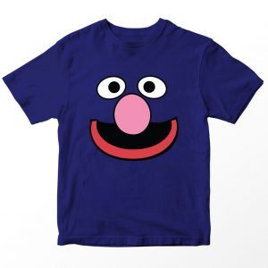 Kaos Sesame Street Grover, Warna Biru Navy Umur 1-10 Tahun by DistroJakarta.com