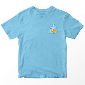 Kaos Angry Birds Biru muda, Ice Bird Pocket Logo Umur 1-10 Tahun by DistroJakarta.com