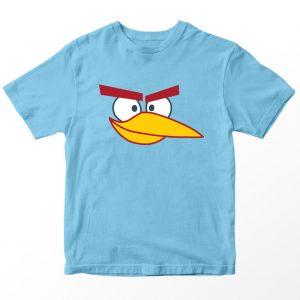 Kaos Angry Birds Ice Bird, Warna Biru muda, Umur 1-10 Tahun by DistroJakarta.com