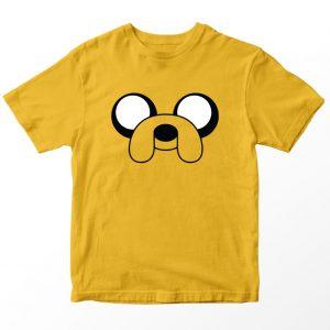 Kaos Adventure Time Jake The Dog, Kuning Mustard 1-10 Tahun by DistroJakarta.com