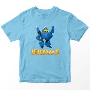 Kaos Super Wings Jerome, Biru Muda Umur 1-10 Tahun by DistroJakarta.com