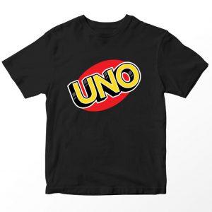Kaos Kartu UNO Logo, Warna Hitam Umur 1-10 Tahun by DistroJakarta.com