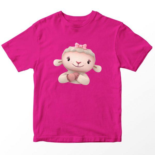 Kaos Doc McStuffin Lambie Head, Warna Pink Fushia 1-10 Tahun by DistroJakarta.com