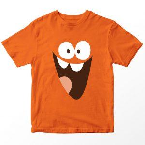Kaos Lamput Face, Warna Oranye Umur 1-10 Tahun by DistroJakarta.com