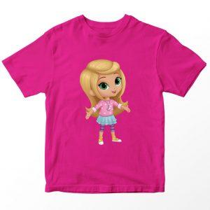 Kaos Shimmer and Shine Leah, Warna Pink Fushia Umur 1-10 Tahun by DistroJakarta.com