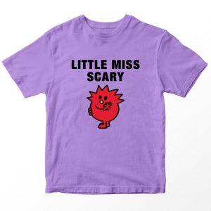 Kaos Little Miss Scary Kartun, Warna Lilac Ungu Muda 1-10 Tahun by DistroJakarta.com