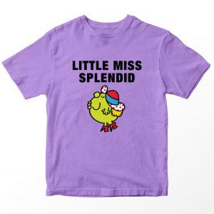Kaos Little Miss Splendid Kartun, Warna Lilac Umur 1-10 Tahun by DistroJakarta.com