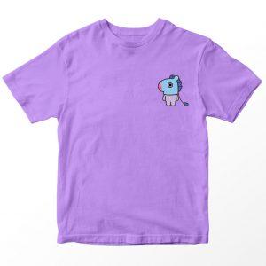 Kaos BT21 BTS Mang Pocket, Warna Lilac Ungu muda Pocket Umur 1-10 Tahun by DistroJakarta.com