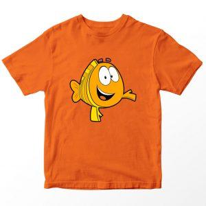 Kaos Bubble Guppies Mr Grouper Kartun, Oranye Umur 1-10 Tahun by DistroJakarta.com