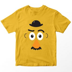 Kaos Toy Story Mr Potato Head, Warna Kuning Mustard Umur 1-10 Tahun by DistroJakarta.com