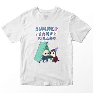 Kaos Summer Camp Island King Alien Pocket, Warna Hijau Umur 1-10 Tahun by DistroJakarta.com