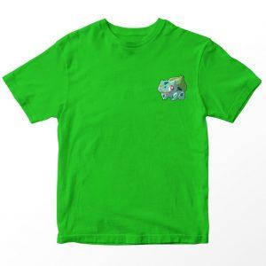 Kaos Pokemon Bulbasaur Pocket Logo, Warna Hijau Umur 1-10 Tahun by DistroJakarta.com