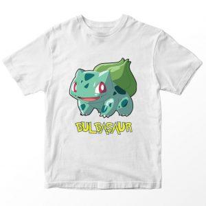Kaos Pokemon Bulbasaur, Warna Putih Umur 1-10 Tahun by DistroJakarta.com