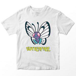 Kaos Pokemon Butterfree, Warna Putih Umur 1-10 Tahun by DistroJakarta.com