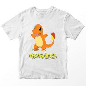 Kaos Pokemon Charmander, Warna Putih Umur 1-10 Tahun by DistroJakarta.com