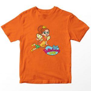 Kaos Butter Bean's Cafe Poppy Kartun, Oranye Umur 1-10 Tahun by DistroJakarta.com