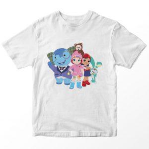 Kaos Rainbow Ruby Friends, Warna Putih Umur 1-10 Tahun by DistroJakarta.com