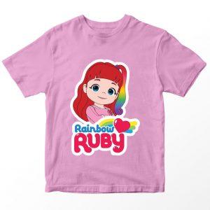 Kaos Rainbow Ruby 2, Warna Pink Umur 1-10 Tahun by DistroJakarta.com