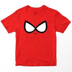 Kaos Teen Titans Go Robin, Warna Merah Umur 1-10 Tahun by DistroJakarta.com