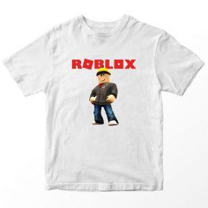 Kaos Roblox Builderman, Warna Putih, Umur 1-10 Tahun by DistroJakarta.com