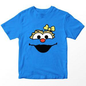 Kaos Sesame Street Rosita, Warna Biru Turkis Tua Umur 1-10 Tahun by DistroJakarta.com