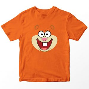 Kaos Spongebob Sandy Tupai, Warna Oranye Umur 1-10 Tahun by DistroJakarta.com