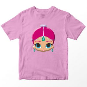 Kaos Shimmer and Shine Shimmer Face, Warna Pink Umur 1-10 Tahun by DistroJakarta.com