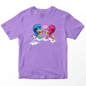 Kaos Shimmer and Shine 2, Warna Lilac Ungu Muda Umur 1-10 Tahun by DistroJakarta.com