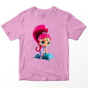 Kaos Shimmer and Shine 1, Warna Pink Umur 1-10 Tahun by DistroJakarta.com