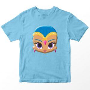 Kaos Shimmer and Shine Shine Face, Warna Biru Muda Umur 1-10 Tahun by DistroJakarta.com