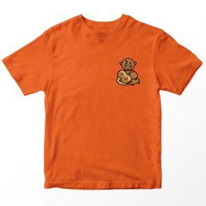 Kaos BT21 BTS Shooky Pocket, Warna Oranye Pocket Umur 1-10 Tahun by DistroJakarta.com