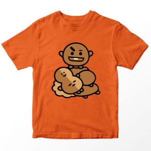 Kaos BT21 BTS Shooky, Warna Oranye Umur 1-10 Tahun by DistroJakarta.com