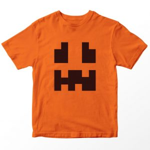 Kaos Minecraft Snow Golem, Warna Oranye, Umur 1-10 Tahun by DistroJakarta.com
